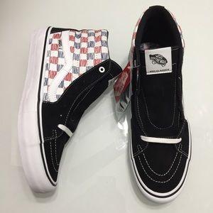 Vans Sk8-Hi Pro Sketch Checkerboard Skate Shoes